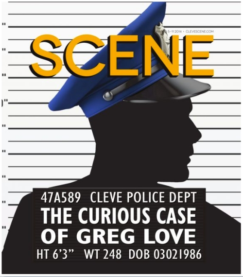 Greg Love shooting Cleveland Scene cover